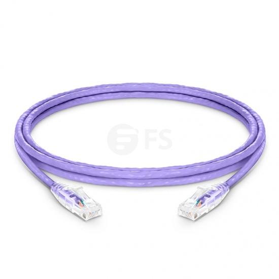 8ft (2.4m)Cat6 ツメ折れ防止 シールドなし(UTP)イーサネットネットワーク用LANパッチケーブル(PVC CM、紫色)