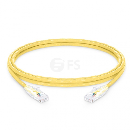 2.4m Cat6 Ethernet Patch Cable - Snagless, Unshielded (UTP) PVC CM , Yellow