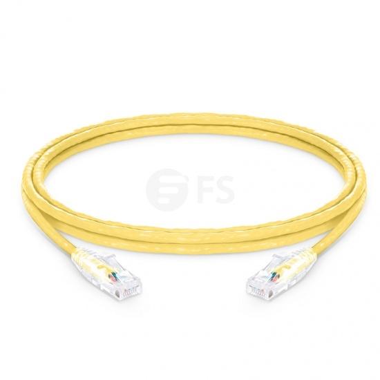 8ft (2.4m)Cat6 ツメ折れ防止 シールドなし(UTP)イーサネットネットワーク用LANパッチケーブル(PVC CM、黄色)