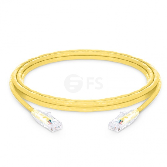 3.7m Cat6 Ethernet Patch Cable - Snagless, Unshielded (UTP) PVC CM , Yellow