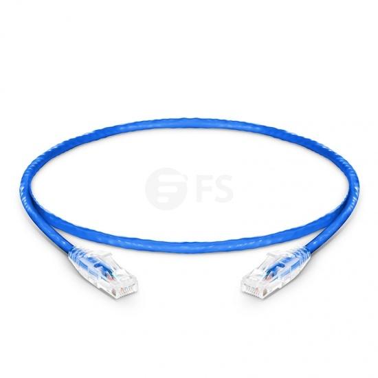 Cable de Red Ethernet LAN RJ45 UTP Cat 5e 0.3m 10/100/1000 Mbps PVC CM Azul