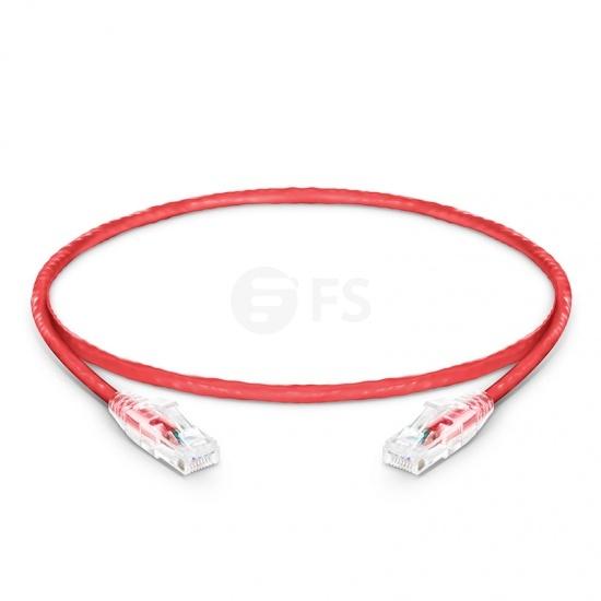 1ft (0.3m)Cat6 ツメ折れ防止 シールドなし(UTP)イーサネットネットワーク用LANパッチケーブル(PVC CM、赤色)