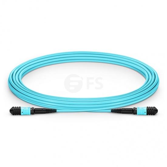 5.49M 12芯 MPO(母)万兆多模OM3主干光纤跳线,极性A ,低插损,LSZH