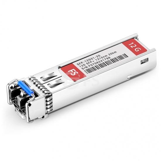 12Gb/s MSA シングル送信機ビデオパソロジカル対応モジュール(SD/HD/12G-SDI用、1310nm、20km、DOM LC SMF)