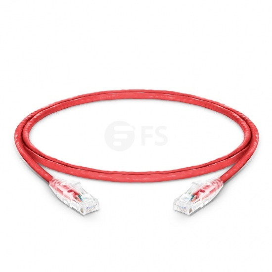 4ft (1.2m) Cat5e Snagless Unshielded (UTP) PVC CM Ethernet Patch Cable, Red