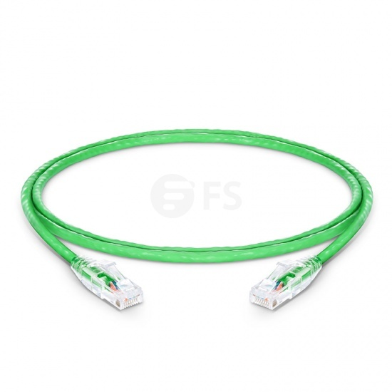 4ft (1.2m) Cat5e Snagless Unshielded (UTP) PVC CM Ethernet Patch Cable, Green