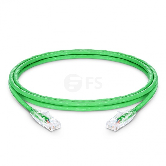 6ft (1.8m) Cat5e Snagless Unshielded (UTP) PVC CM Ethernet Patch Cable, Green