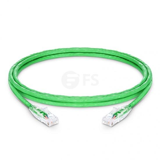 6ft(1.8m) Cat5e ツメ折れ防止 シールドなし(UTP)イーサネットネットワーク用LANパッチケーブル(PVC CM、緑色)