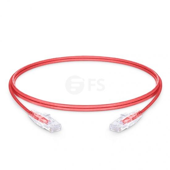 Cable de red Ethernet LAN delgado RJ45 PVC CM UTP Cat 6, rojo, 5ft (1.5m)