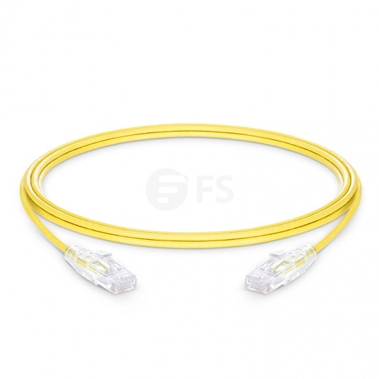 10ft (3m) Cat6 Snagless Unshielded (UTP) PVC CM Slim Ethernet Network Patch Cable, Yellow