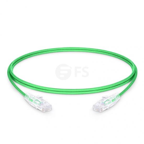 6ft(1.8m) Cat6 Ungeschirmtes (UTP) PVC CM Ethernet Patchkabel, Slim, Snagless, Grün