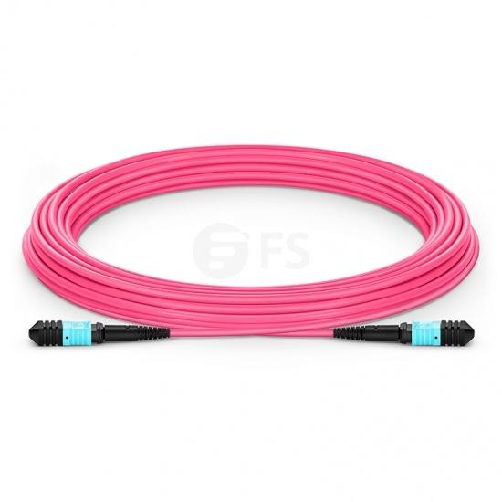 Cable troncal Elite Senko MPO hembra 12 fibras tipo A LSZH OM4 (OM3) 50/125 multimodo, magenta, 10m