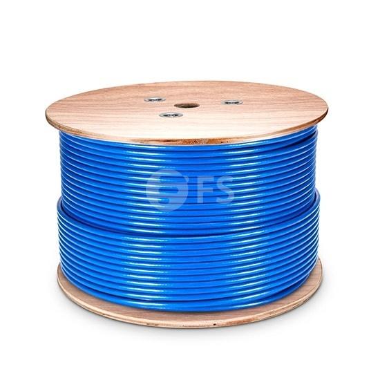 1000ft (305m) Cat5e Foiled (FTP) Solid PVC CMR Blue Bulk Ethernet Cable