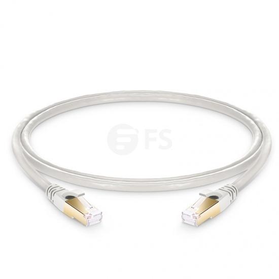 Cable de Red Ethernet LAN RJ45 S/FTP Cat 8 0,9m PVC CMX Blanquecino