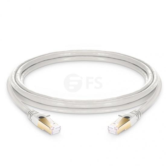 Cable de Red Ethernet LAN RJ45 S/FTP Cat 8 3m PVC CMX Blanquecino