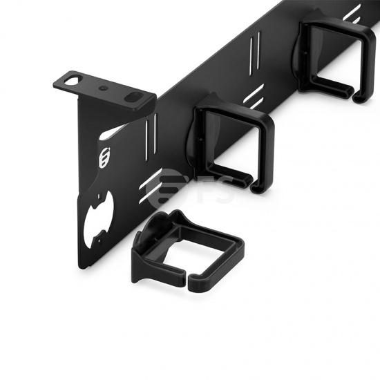 1U 金属水平理线架 带5个塑料D型环