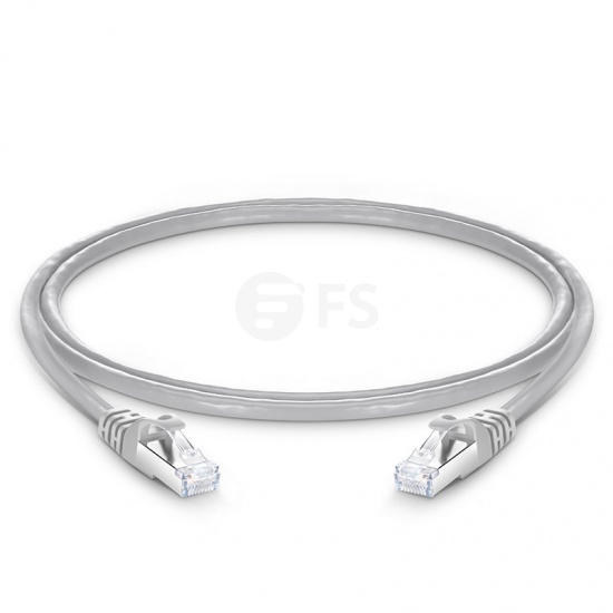 4ft (1.2m) Cat6a Snagless Shielded (SFTP) PVC CMX Ethernet Network Patch Cable, Gray