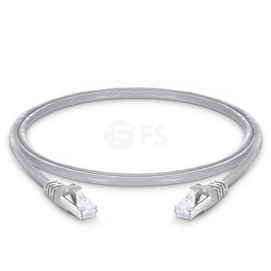 4ft (1,2m) Câble Réseau Ethernet Cat6a Snagless Blindé (SFTP) PVC CMX, Gris