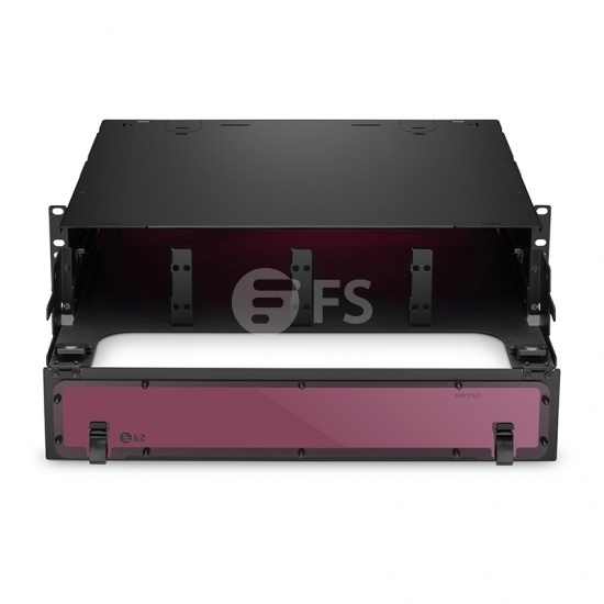 FHD High Density 2U Rack Mount Enclosure Unloaded, Sliding Drawer, Holds up to 8x FHD Cassettes or Panels