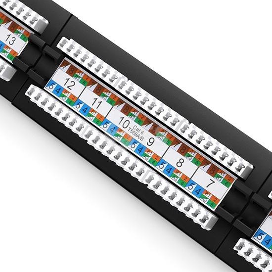 24端口Cat6非屏蔽110打线式配线架