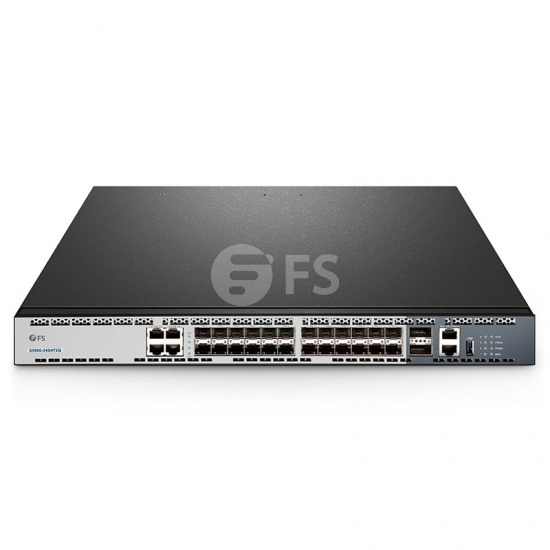S5900-24S4T2Q, 24-Port 10Gb SFP+ and 4 Gigabit RJ45, 2 40Gb QSFP+ Uplinks, L3 Stackable Managed Ethernet Switch