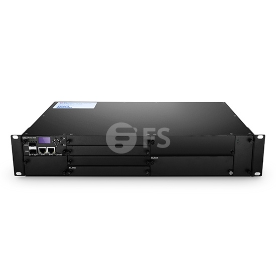 2U Managed Chassis Unloaded, Supports up to 8x EDFA/OEO/OLP Module with Accessories