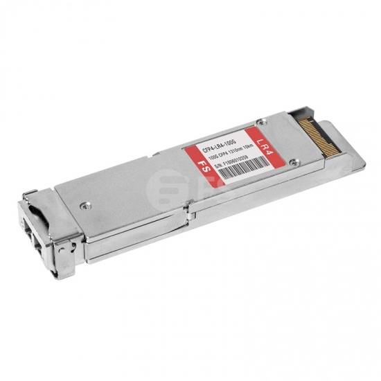 CFP4 Cisco CFP4-100G-LR4 Compatible 100GBASE-LR4 1310nm 10km DOM LC SMF Transceiver Module