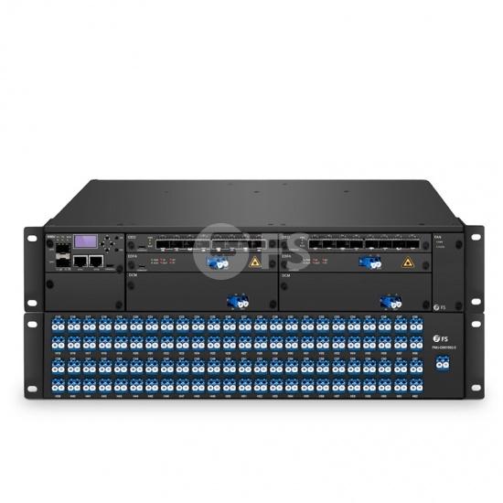 Connexion DWDM Hyperscale FMT 9600E (Deux Extrémités Incluses), 960Gbps pour Plate-Forme de Transport Métropolitaine BIDI à Double Fibre de 100km, Double 100V-240VAC dans un Châssis Géré 2U