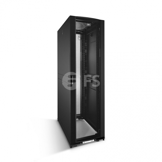 Gabinete para servidor modelo GR600 42U color negro 600x1170mm con 2 soportes para PDU y estantes fijos ajustables