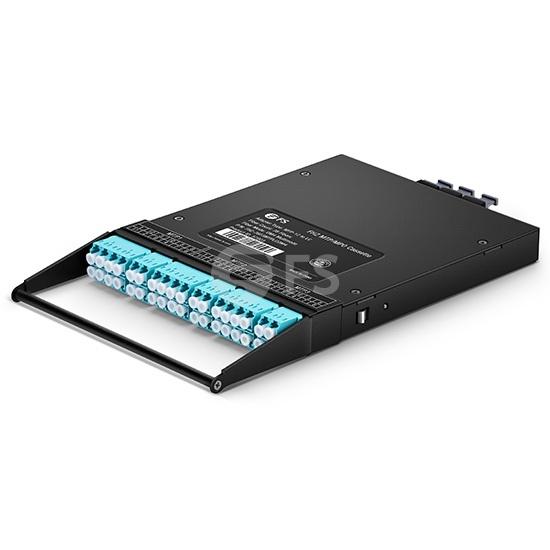 36F FHZ MTP®光纤配线盒,3xMTP®-12转LC,OM4多模,通用极性