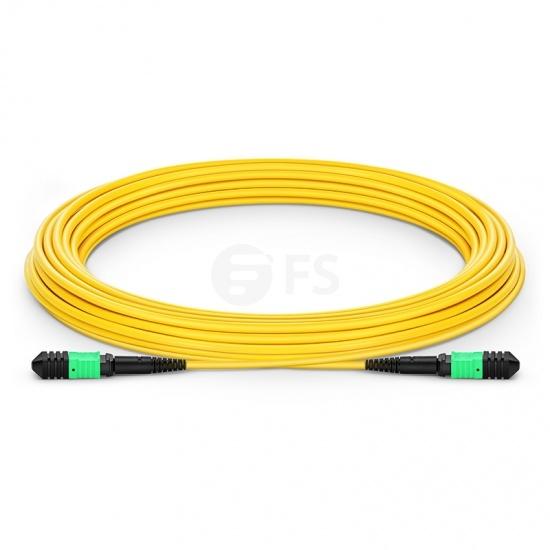 Cable troncal Elite Senko MPO hembra 12 fibras tipo A LSZH OS2 9/125 monomodo, amarillo, longitud personalizada