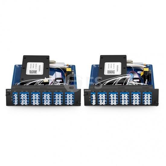 Mux Demux DWDM à 40 Canaux C21-C60 Double Fibre, Module Enfichable pour FMT 4000E, TAWG, LC/UPC