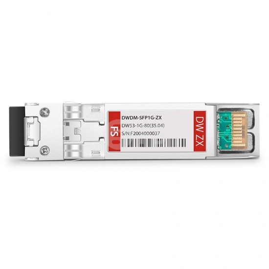 中性(Generic)兼容  C53 1000BASE-DWDM SFP光模块 100GHz 1535.04nm 80km DOM