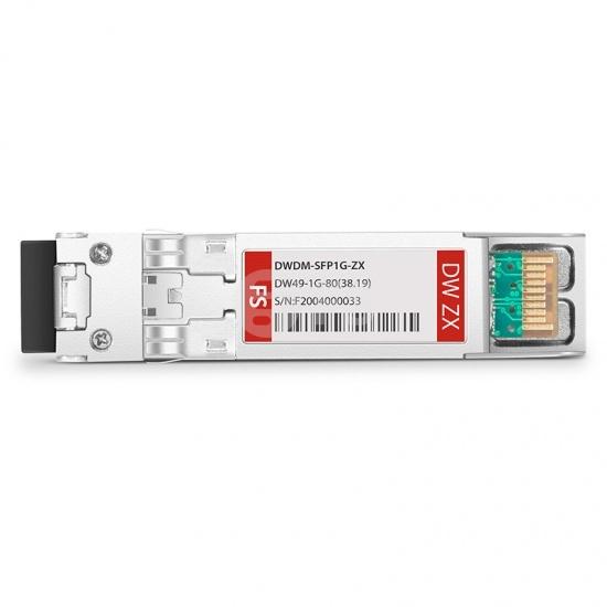 中性(Generic)兼容  C49 1000BASE-DWDM SFP光模块 100GHz 1538.19nm 80km DOM