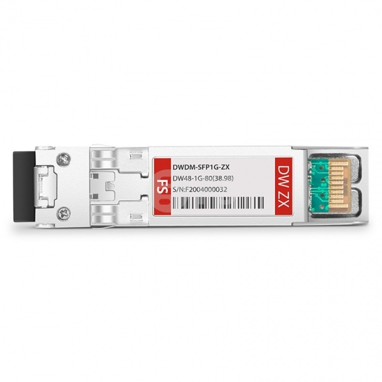 中性(Generic)兼容  C48 1000BASE-DWDM SFP光模块 100GHz 1538.98nm 80km DOM