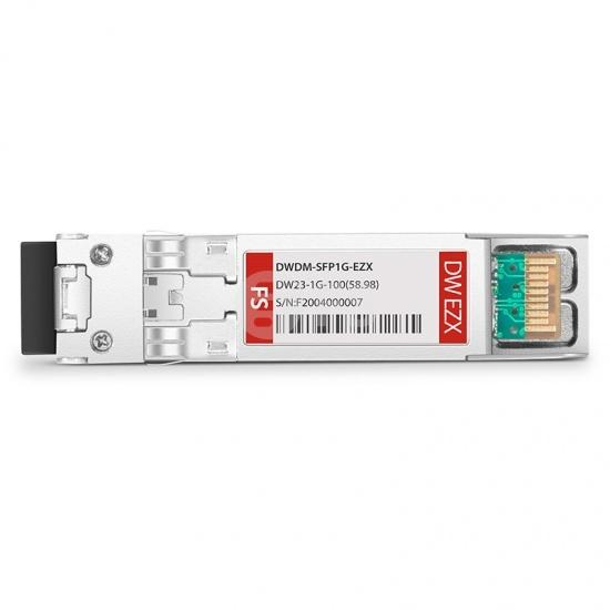 中性(Generic)兼容  C23 1000BASE-DWDM SFP光模块 100GHz 1558.98nm 100km DOM