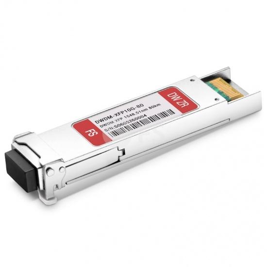 Generic Compatible C36 10G DWDM XFP 100GHz 1548.51nm 80km DOM LC SMF Transceiver Module