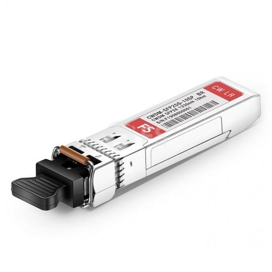 Brocade XBR-SFP25G1330-10 Compatible 25G 1330nm CWDM SFP28 10km DOM Optical Transceiver Module