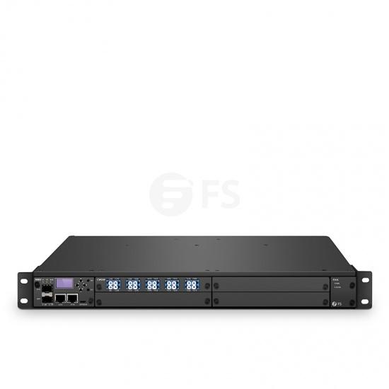 FMT 1800 eficiente conexión CWDM (Conjunto de dos), 90Gbps para una plataforma de transporte de extremo a extremo BIDI de fibra única, doble 100V-240VAC en chasis administrado 1U