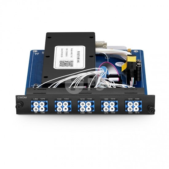 Multiplexor Demultiplexor CWDM Mux Demux de fibra única 9 canales LC/UPC 1270-1590nm, lado A, ocupa 1 ranura