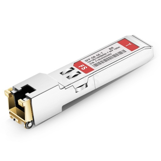 Brocade BCM5421XE Compatible 10/100/1000BASE-T SFP SGMII Copper RJ-45 100m Transceiver Module