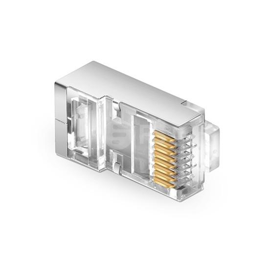 Cat5e 超五类屏蔽RJ45细径网线水晶头 (50个/包)