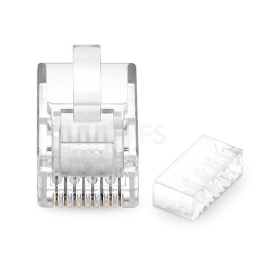 Cat6 六类非屏蔽RJ45细径网线水晶头 带固定配件(50个/包)