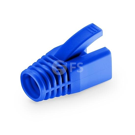 Bota modular (cubierta protectora o capuchón) blindado para cables sólidos RJ45 STP Cat6a - 50/paquete - azul
