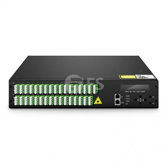 Оптический Усилитель EYDFA 17 дБм Выход 1550нм 64 Портов FTTx PON с WDM для CATV Приложений, LC / APC, 2U Стойка