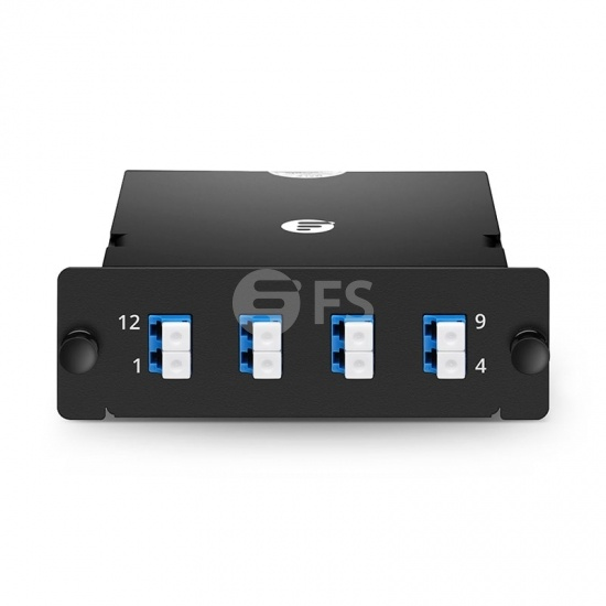 MPO-8 to 4x LC Duplex, 8 Fibres OS2 Single Mode FHD MPO Cassette, 40G/100G to 10G/25G