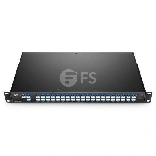 Personaliza superficie plana Multiplexor Demultiplexor DWDM Mux Demux de fibra dual 40/44 canales