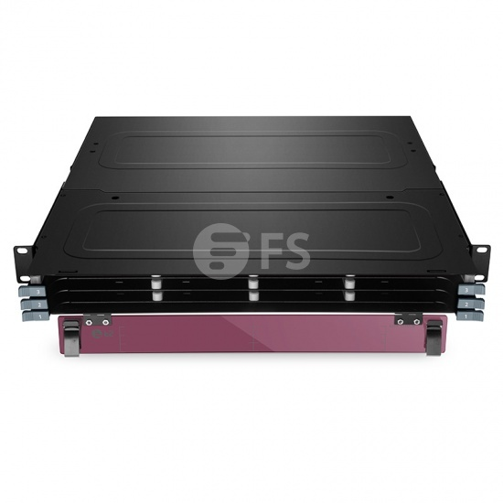 1U 144 Fibers Rack Mount FHX-FCP Ultra HD Fiber Enclosure Unloaded, Holds up to 12x FHX-C MTP-12 Cassettes