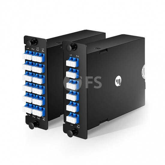 Cassette FHD personalizado MPO a LC/SC OS2 monomodo, máx. 0.35dB