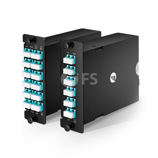 Customized MPO to LC/SC OM3 Multimode FHD Fiber Optic Plug-N-Play Cassette